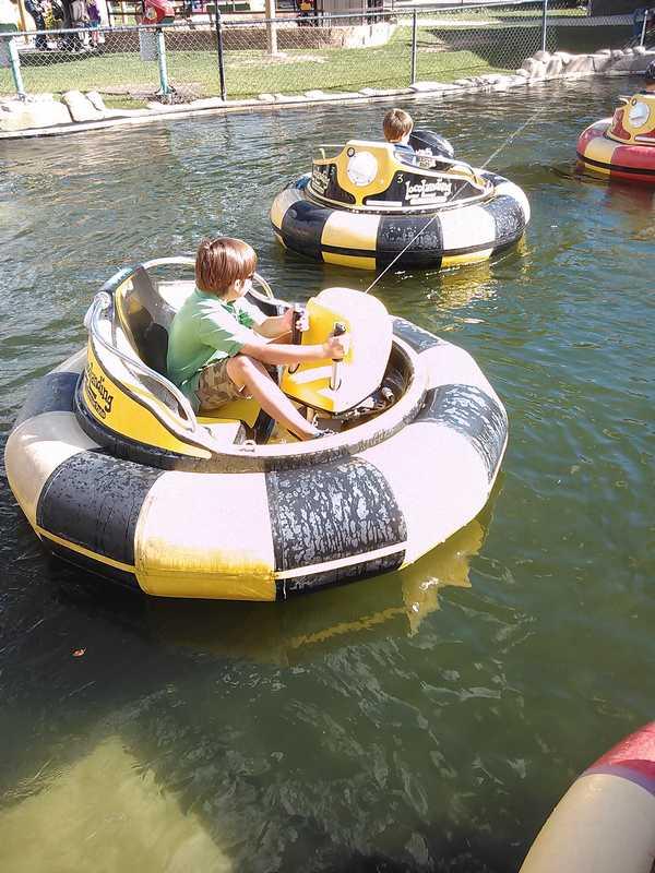 Bumper boats at Loco Landing