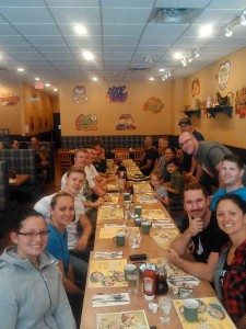 Farewell breakfast with some friends from work